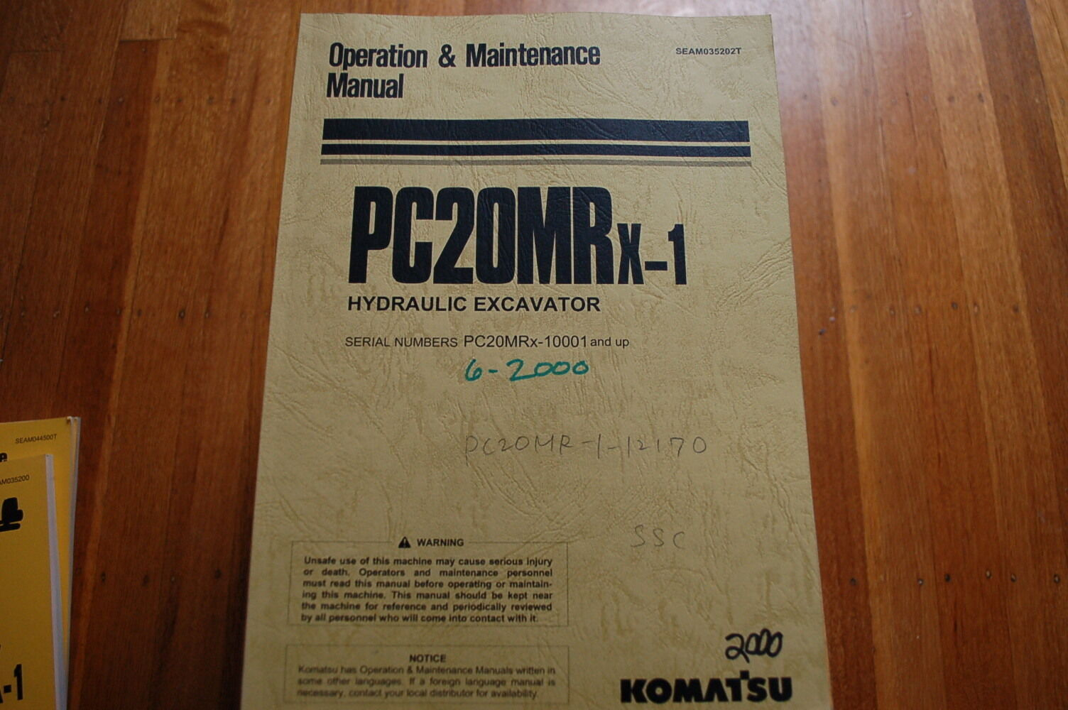 1 of 8Only 1 available KOMATSU PC20MRx-1 Crawler Excavator Owner Operator  Operation Maintenance Manual