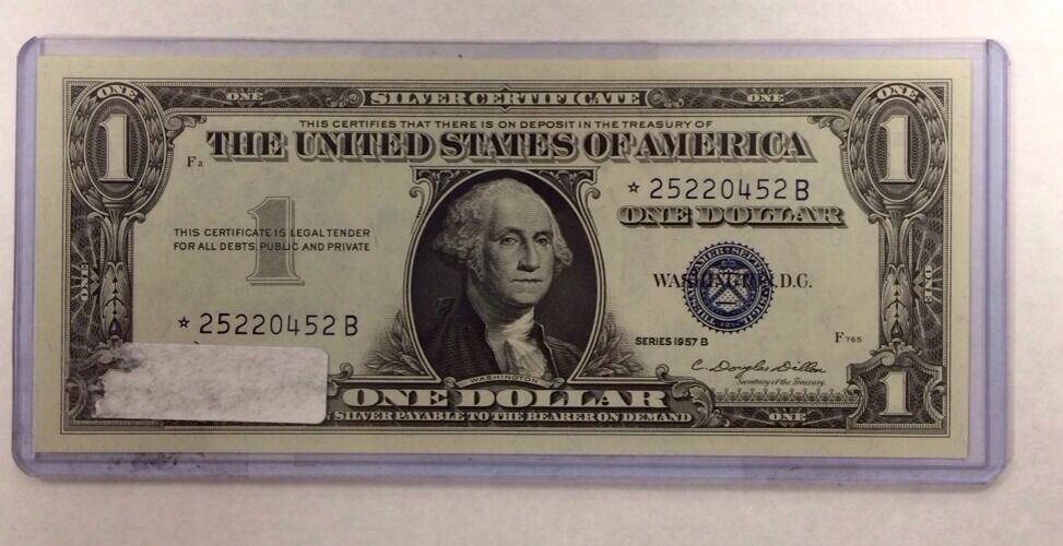 1957B ONE Dollar Star United States Silver Certificate * 25220452B ...