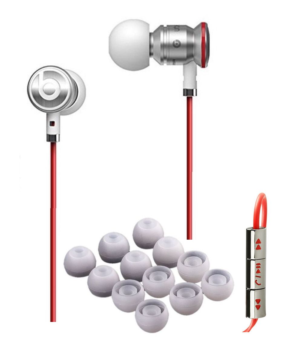 WHITE   RED   Silver urBeats by Dr Dre In-Ear Earbuds Beats Buds ... d59dad714712
