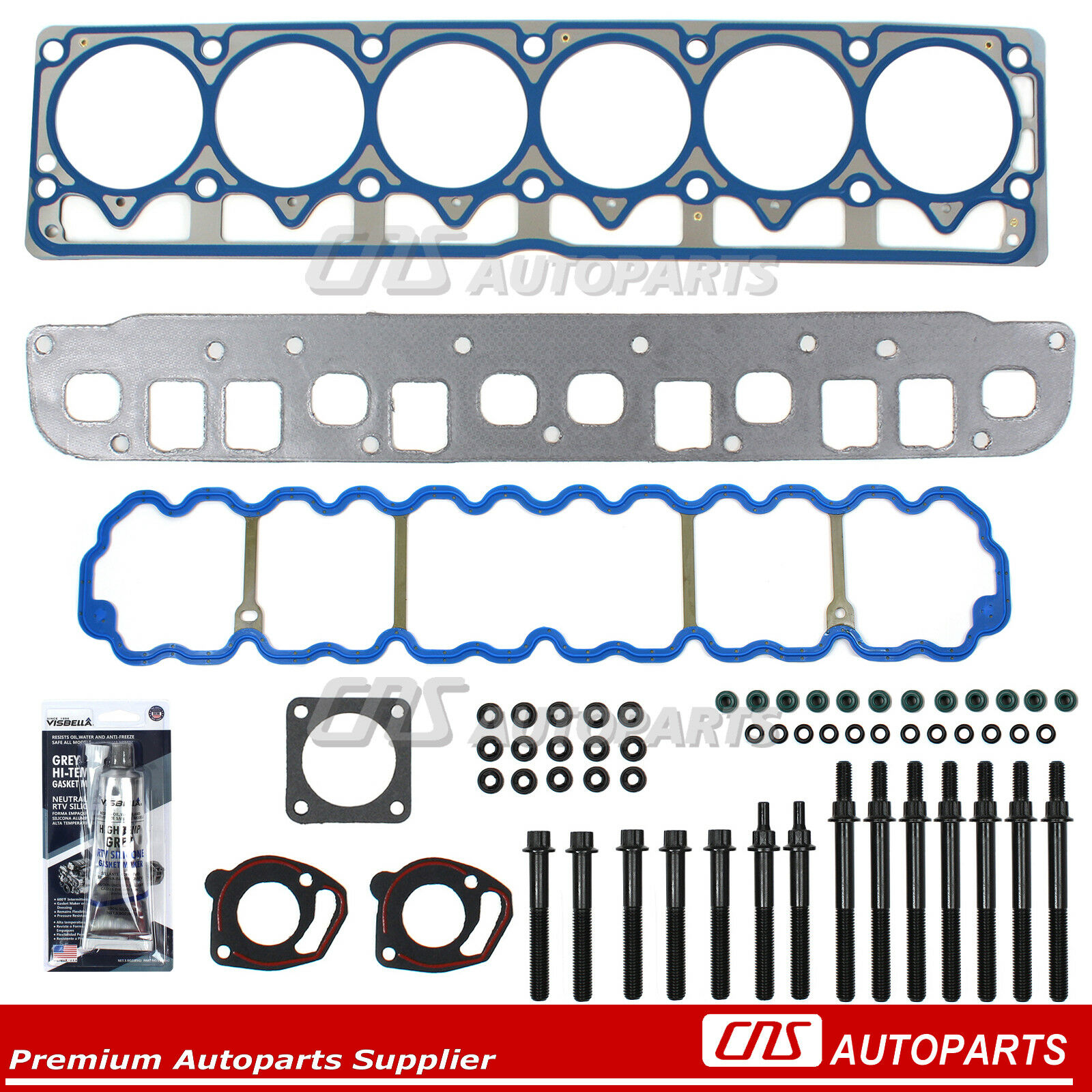 Jeep Grand Cherokee Tj Wrangler 40l 242 L6 Head Gasket Bolts Kit 1 Of 4free Shipping