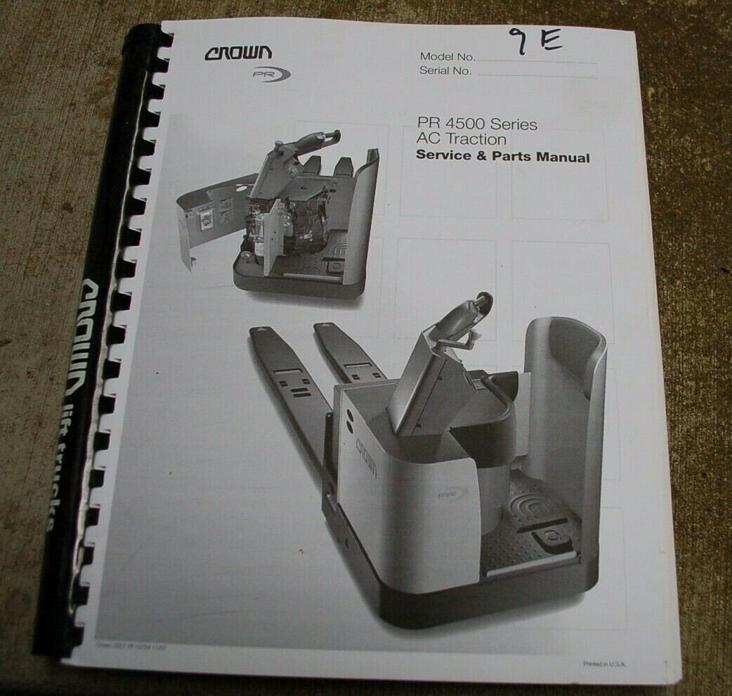 CROWN PR 4500 AC Forklift Service Repair Parts Manual book catalog list  spare 1 of 9FREE Shipping CROWN ...