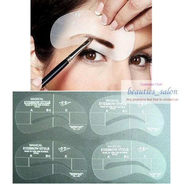 Eyebrow Stencil Eyebrow Liner Template Plastic Makeup Shaping Diy