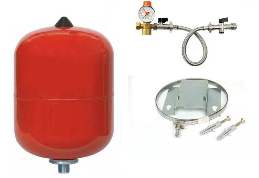 CENTRAL HEATING EXPANSION Vessels 8 12 18 24 Ltr + Kit / Bracket ...