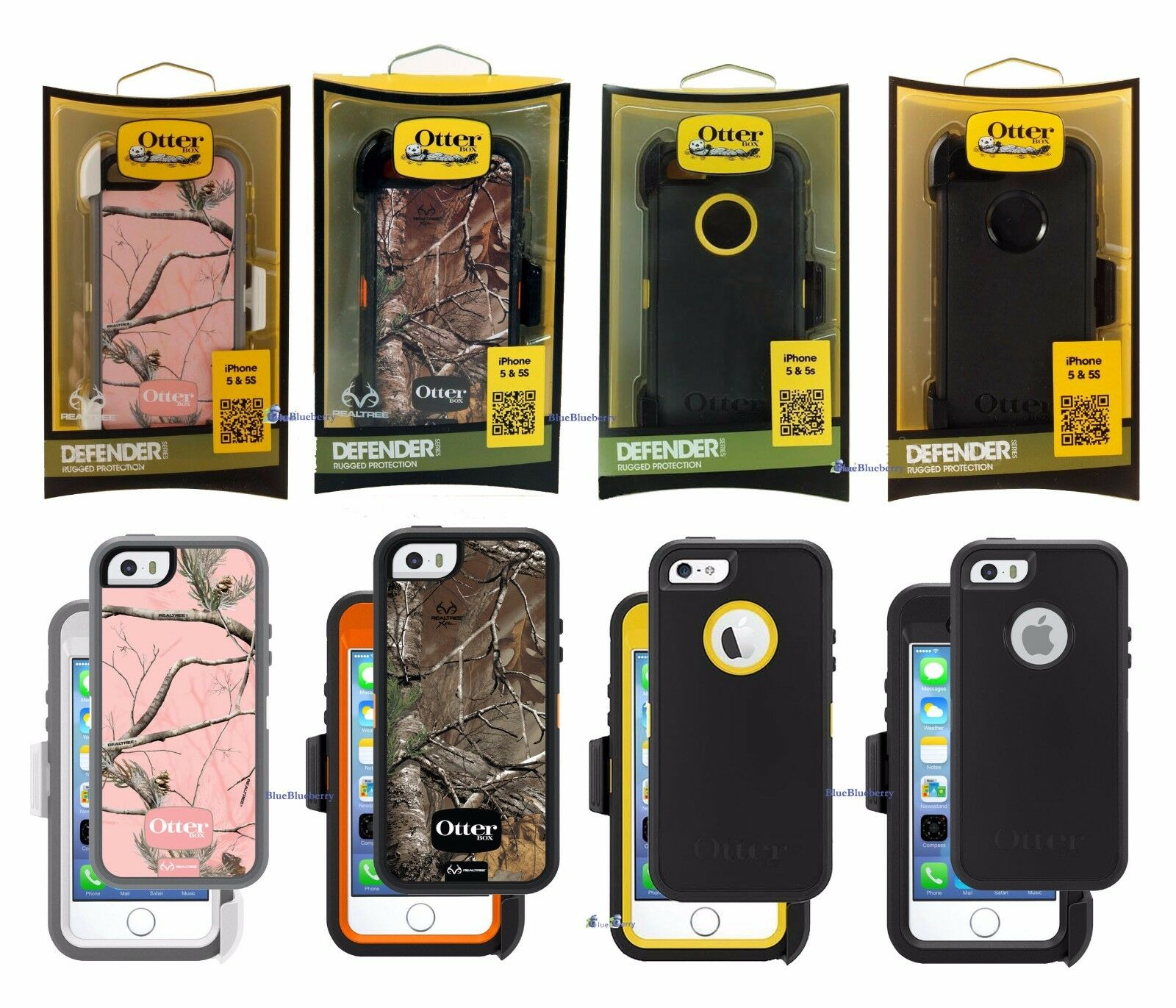 New Otterbox Defender Case For Iphone 5s 5 Se Holster Works