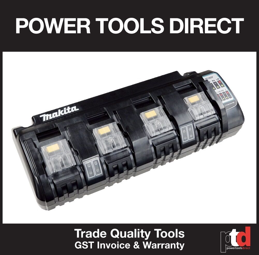 New Makita 18v Battery Charger Cordless Dc18sf 4 Bay