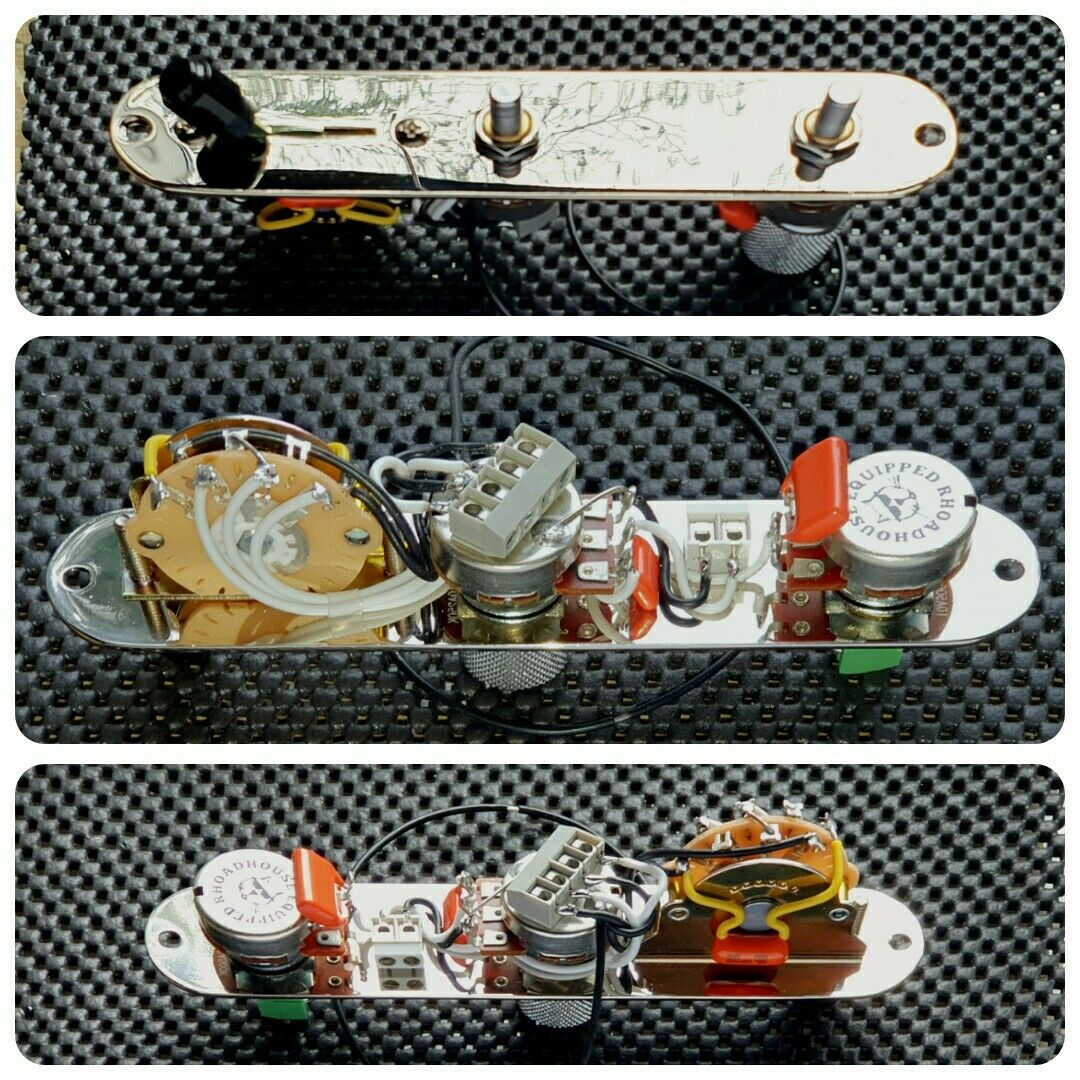 Fender Telecaster Tele 5 Way Control Plate Complete Wiring Harness Kit Upgrade 1 Sur 8
