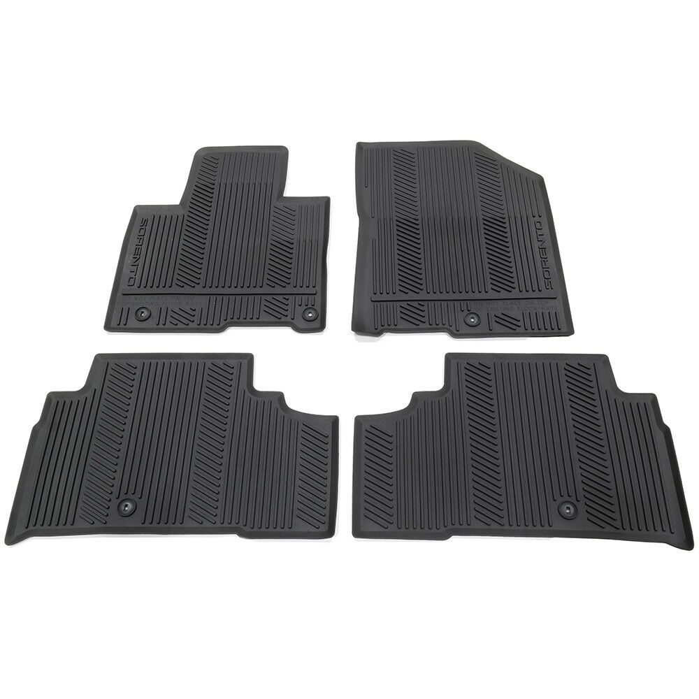 OEM NEW All Weather Season Rubber Floor Mats 2016 2019 Kia Sorento  C6F13 AC100 1 Of 7Only 2 Available See More