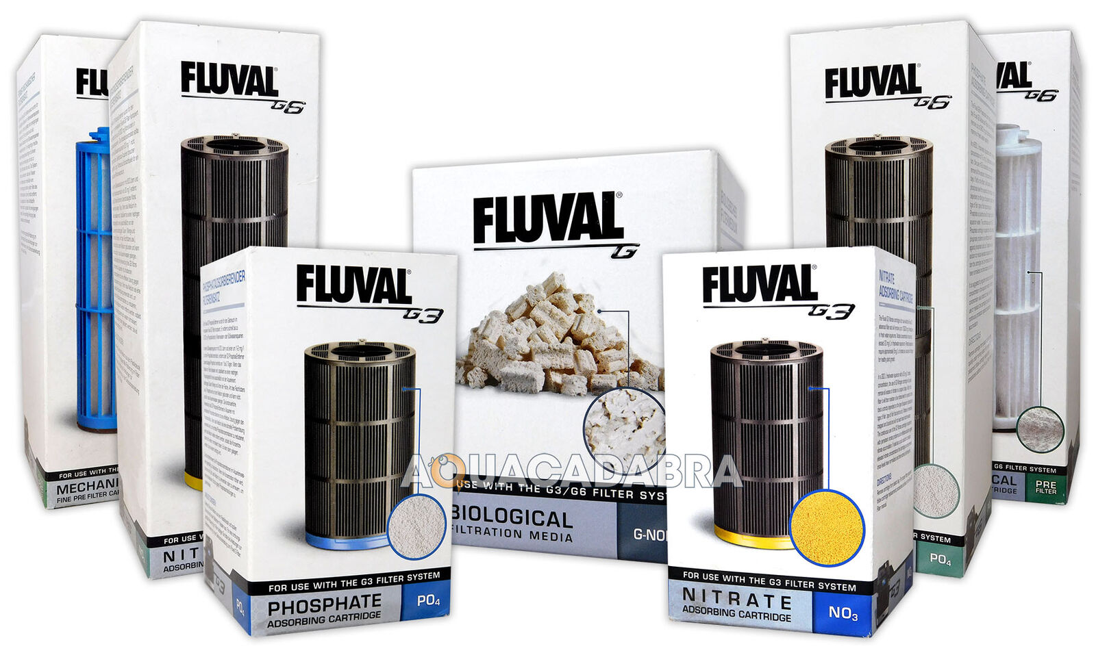 Fluval G3 G6 Filter Media Nitrate Phosphate Filtration Cartridge Tank Aquarium
