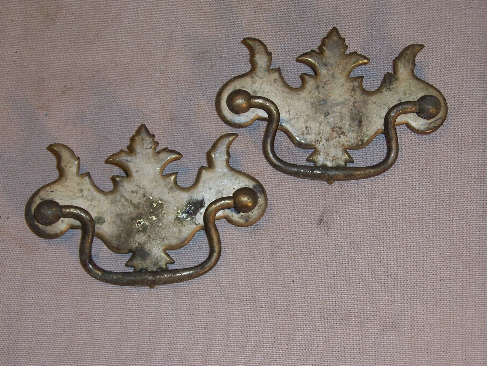 Antique Drawer Pull Handle Ornate Victorian Replacement Part Hardware Dresser