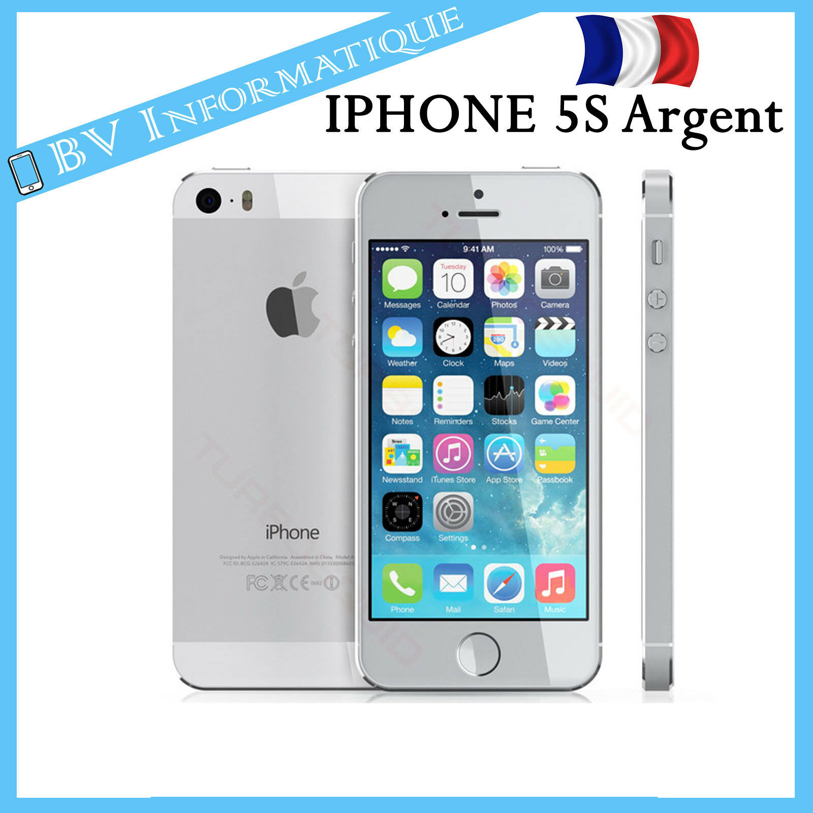 apple iphone 5s 16 go argent d bloqu tout op rateur garantie 6 mois eur 179 00 picclick fr. Black Bedroom Furniture Sets. Home Design Ideas