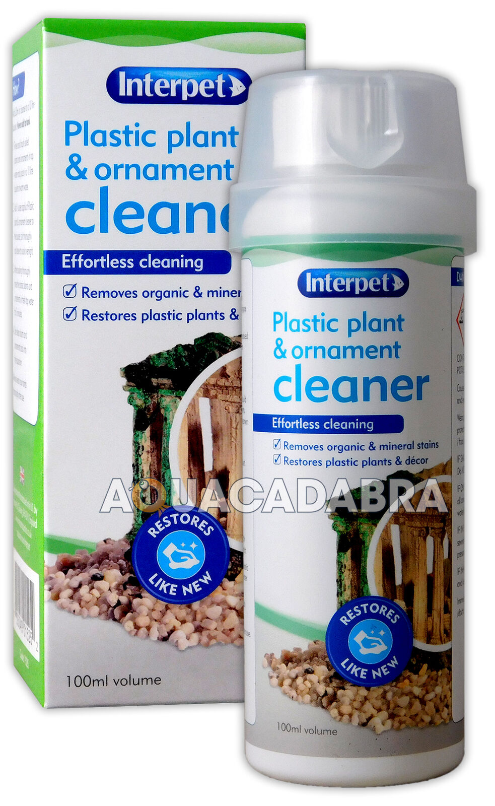 Interpet plastic plant ornamnet cleaner decor clean for Cleaning algae from fish tank