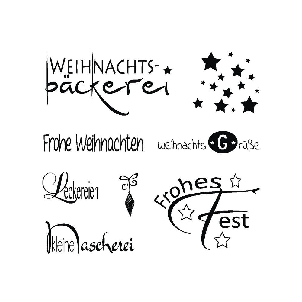motiv stempel clear stamps set weihnachten texte. Black Bedroom Furniture Sets. Home Design Ideas