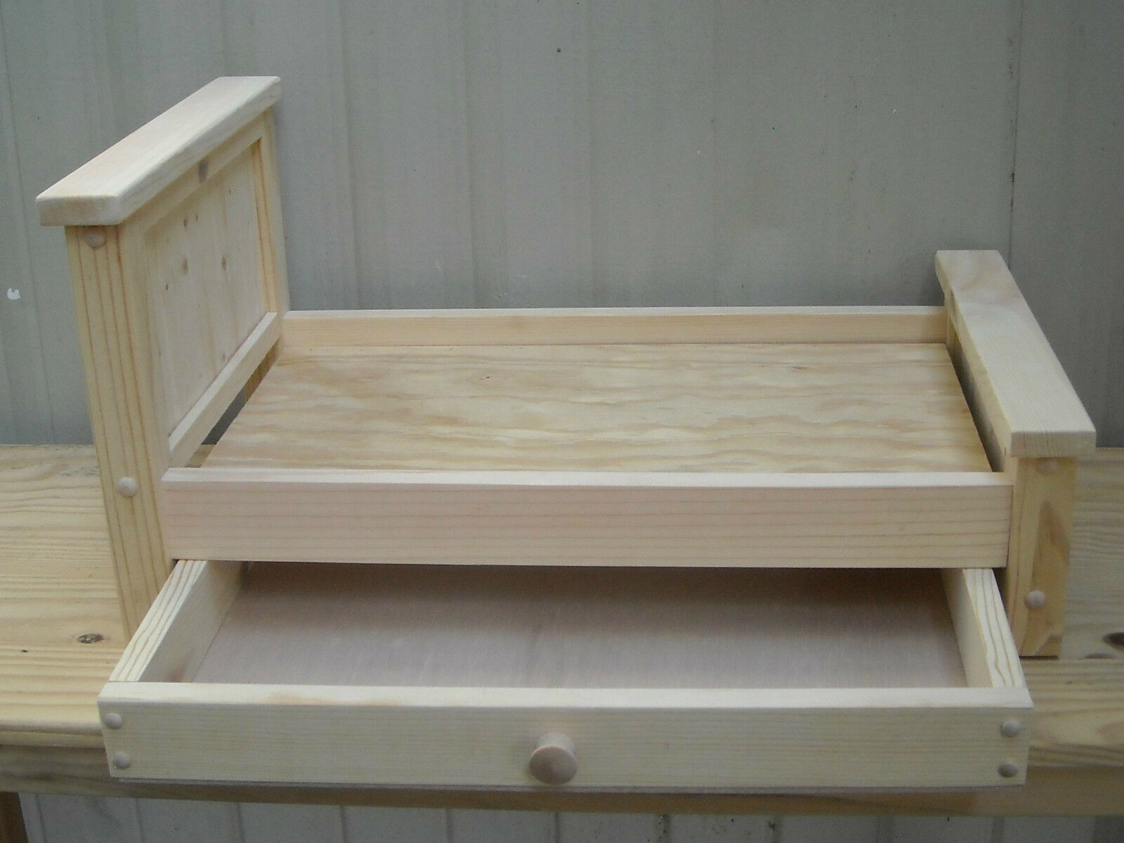 Marvelous photograph of Handmade Rustic Style Trundle Bed for 18 inch doll with #6B614C color and 1600x1200 pixels