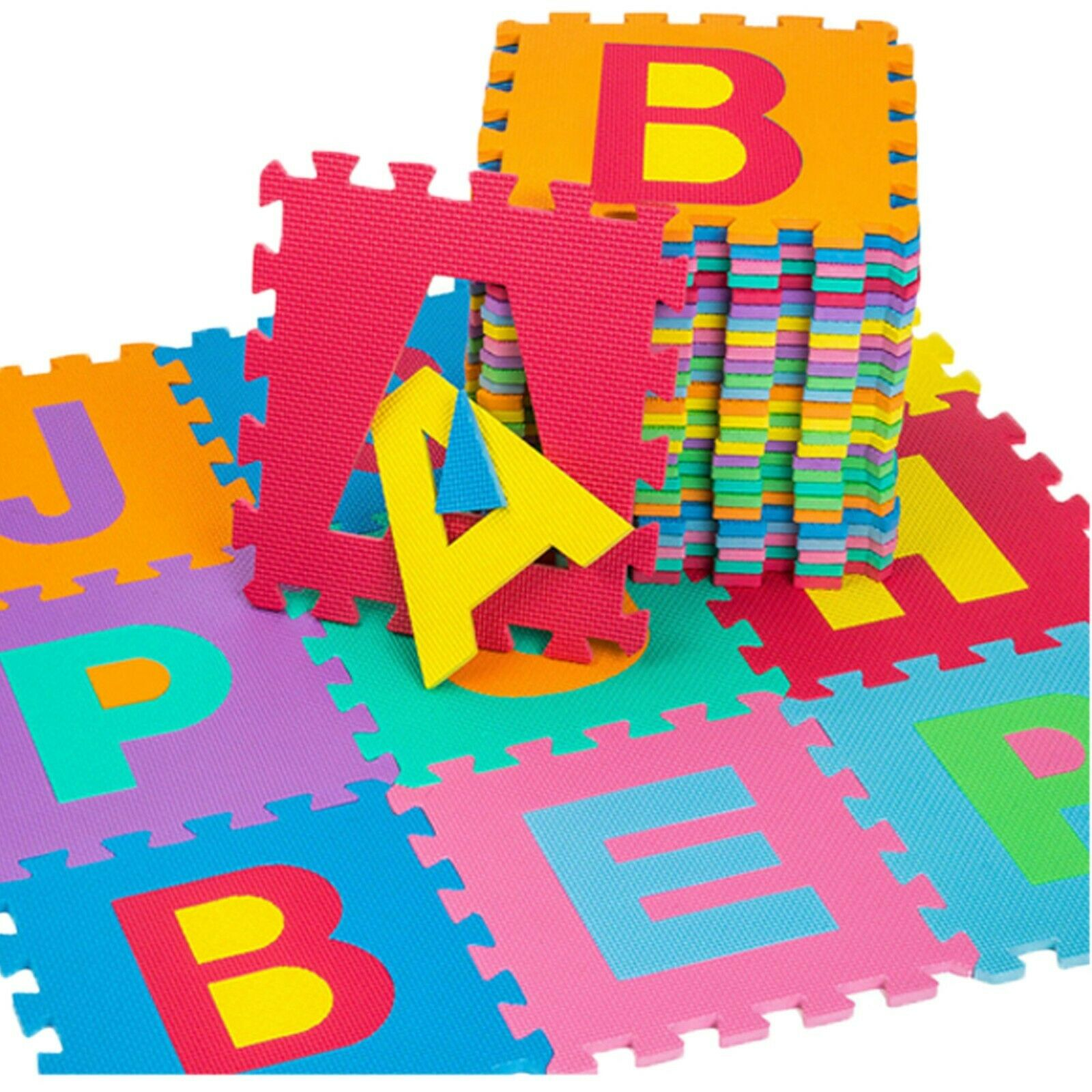 36pcs Alphabet Number Play Mat Toddlers Children Soft Foam