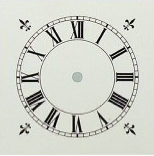 White Painted (Clock  Dial) 152Mm Dia Roman Black Numerals 2650W10