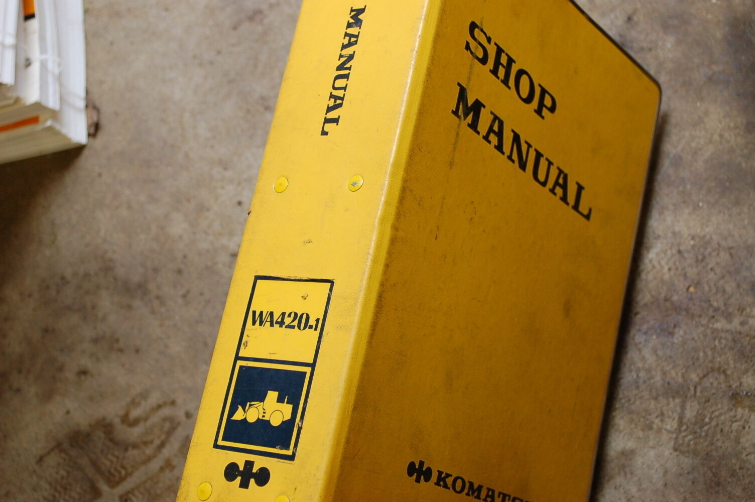 KOMATSU WA420-1 Front End Wheel Loader Service Repair Manual book shop  overhaul 1 of 1Only 1 available ...