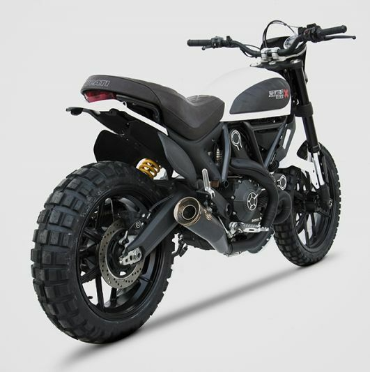silencieux zard homologu noir ducati scrambler ref. Black Bedroom Furniture Sets. Home Design Ideas