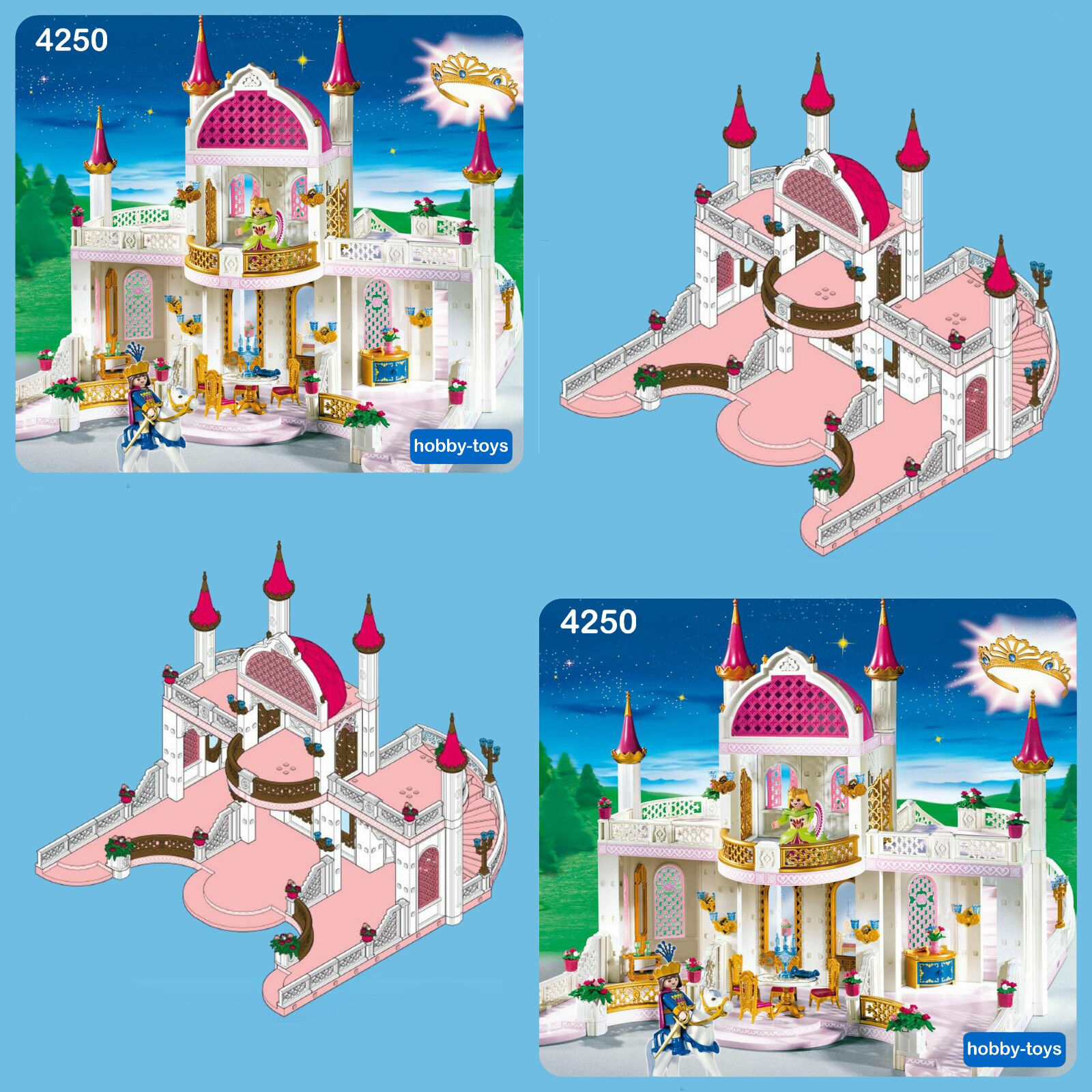 Playmobil princess castle 3019 4250 4251 4252 4254 4255 for Chateau playmobil 4250