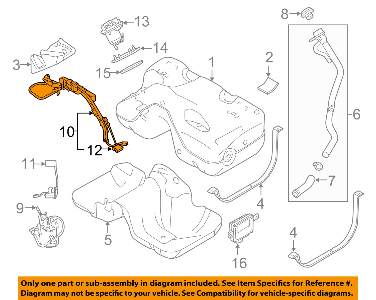 LAND ROVER OEM 12-17 Range Rover Evoque-Fuel Pump LR057235 1 of 4Only 0  available See More