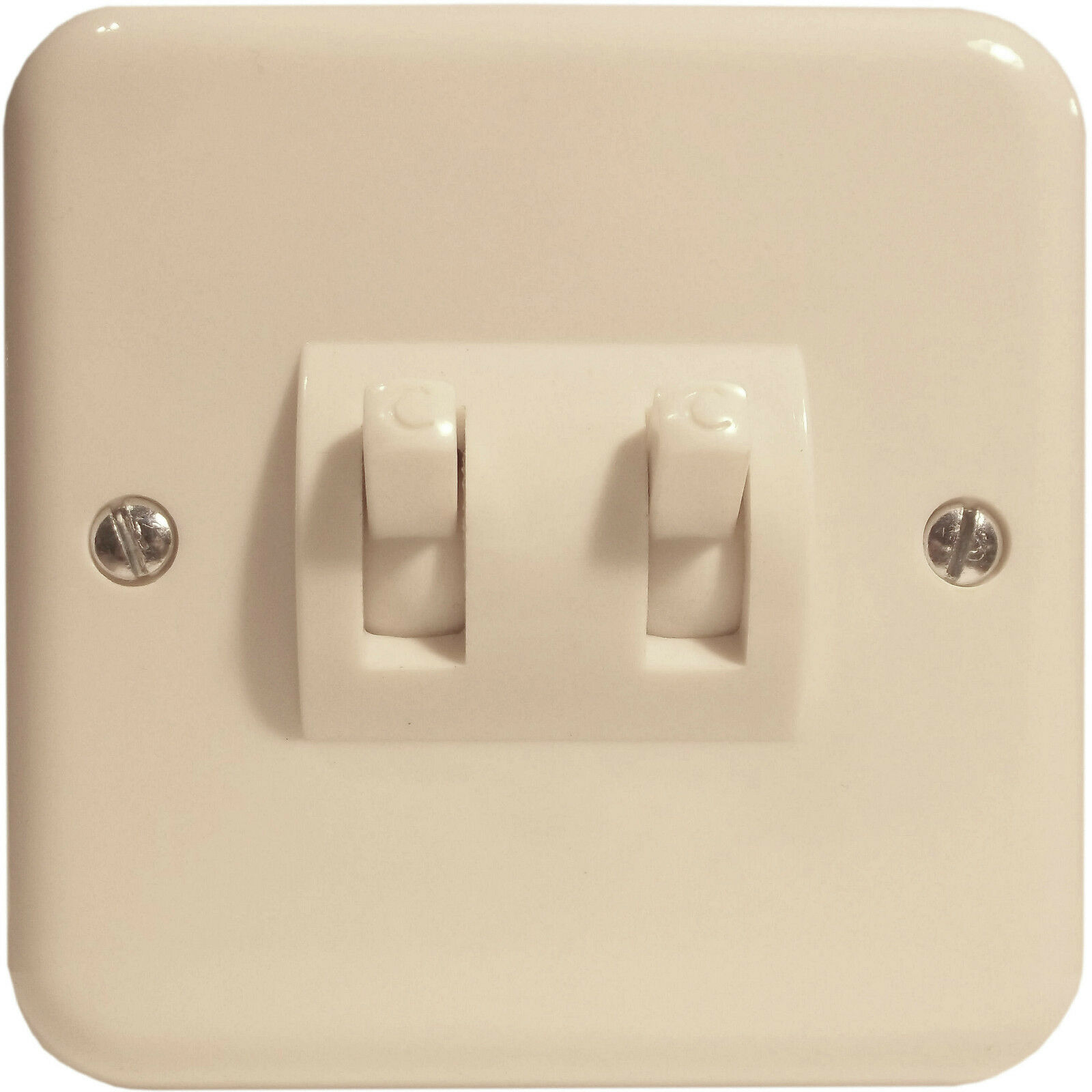 Crabtree Vintage Flush Fitting Ivory Bakelite Switch 2way 2gang 2 Way 1 Of 3only 0 Available