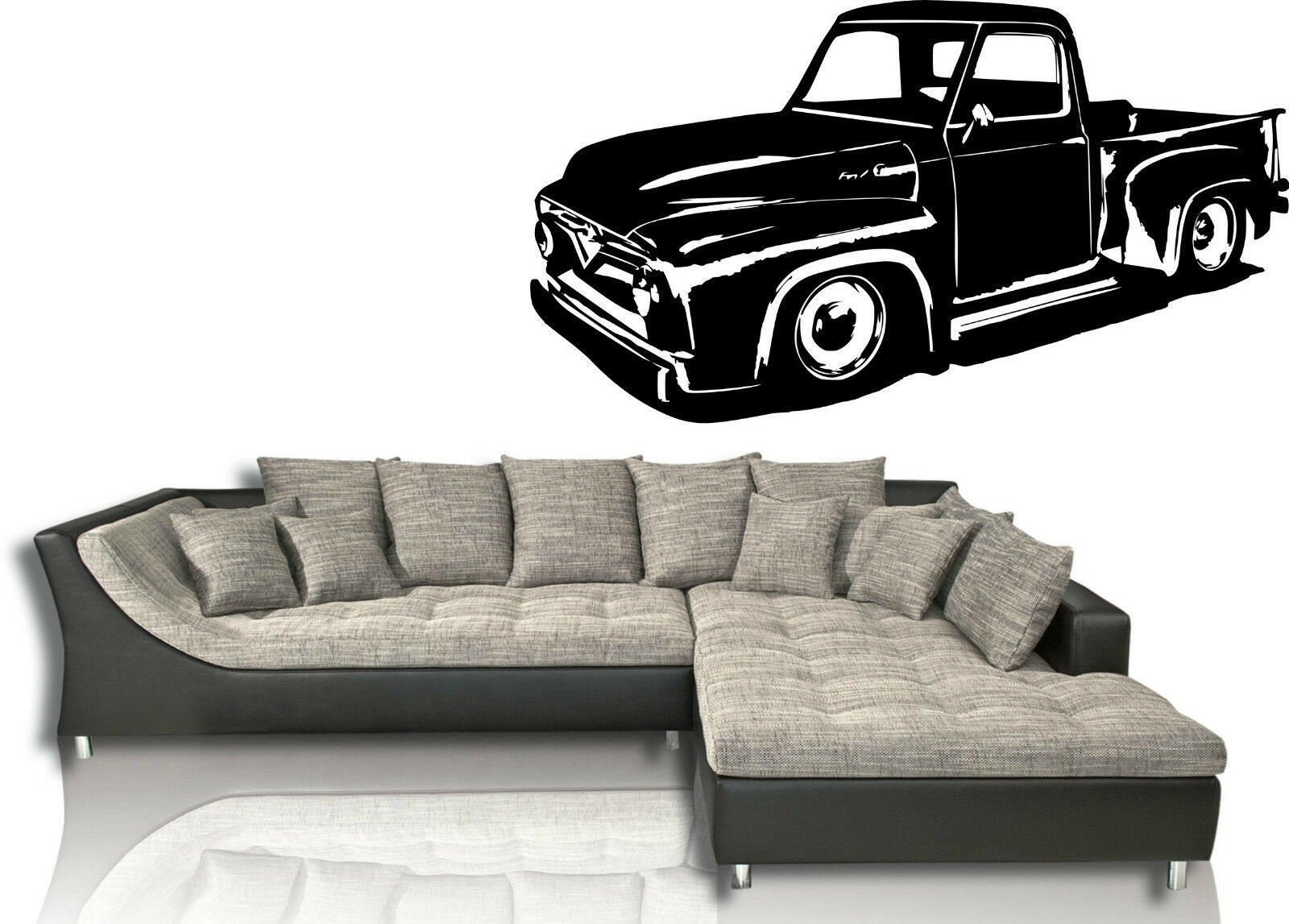 FORD F100 PICK up Truck Wandtattoo Aufkleber Wandsticker - EUR 46,72 ...