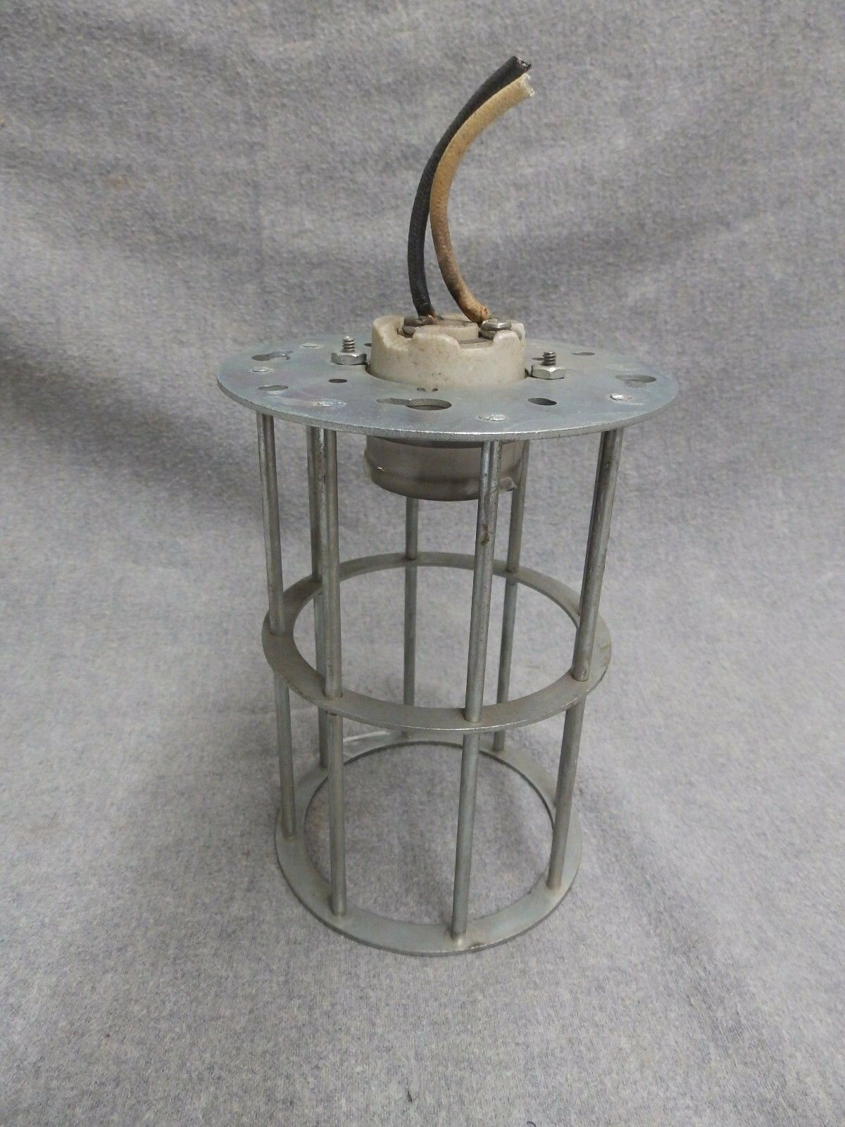 Vintage Industrial Factory Warehouse Steampunk Cage Light Old Steampunk 342-16