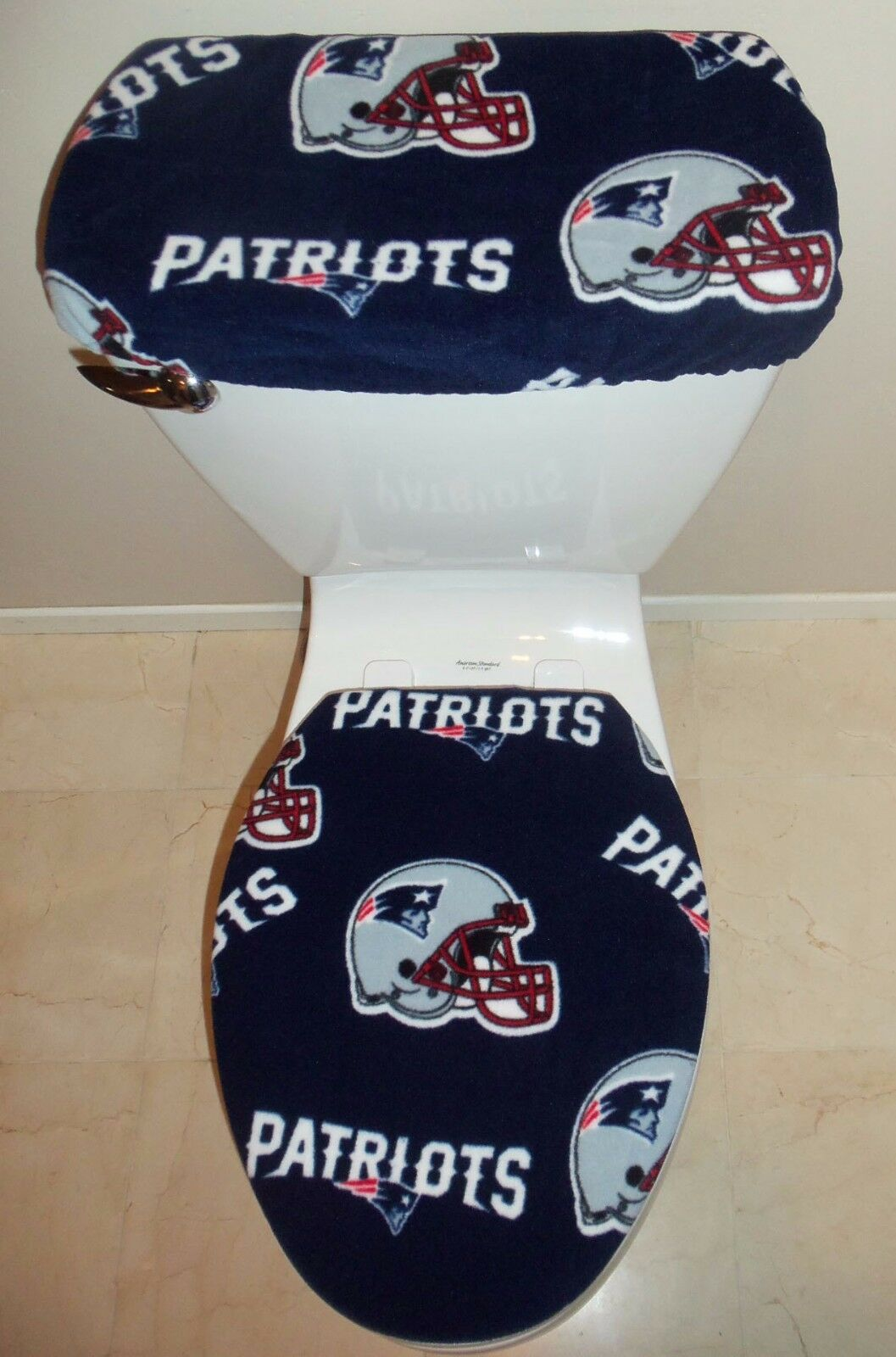 Nfl New England Patriots Toilet Seat Cover Set Bathroom Accessories 1 Of 1only 0 Available