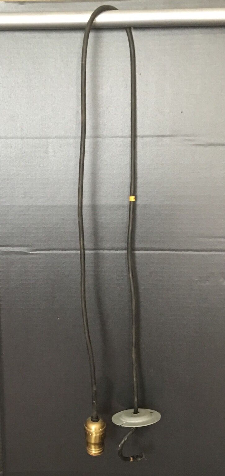 """58"""" Long Matched Hanging Pendant Light 4 Available H&H Socket Great!!"""
