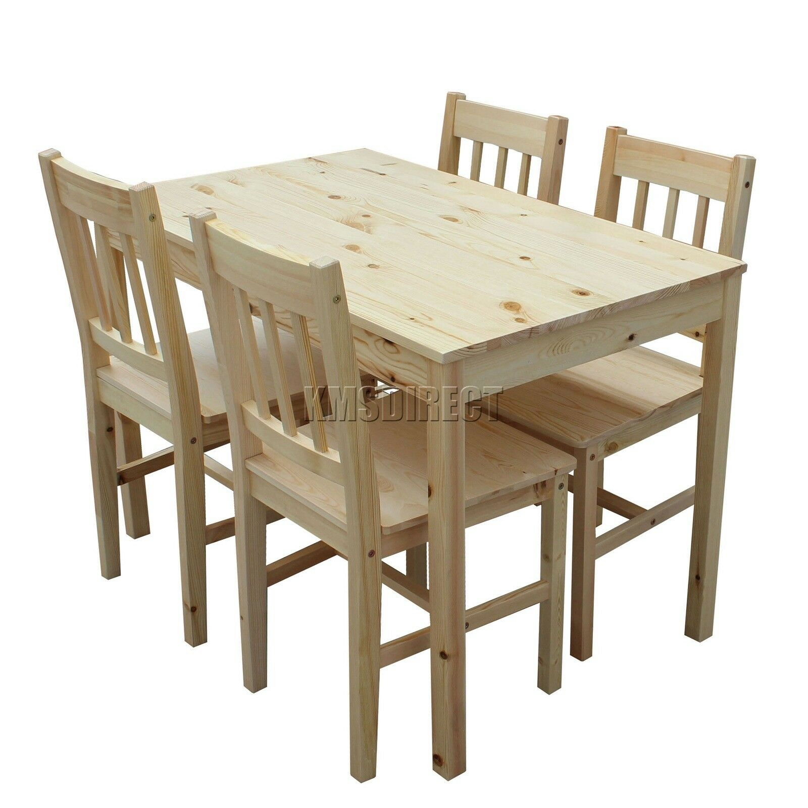 Foxhunter Quality Solid Wooden Dining Table And 4 Chairs Set Kitchen Ds02 Pine