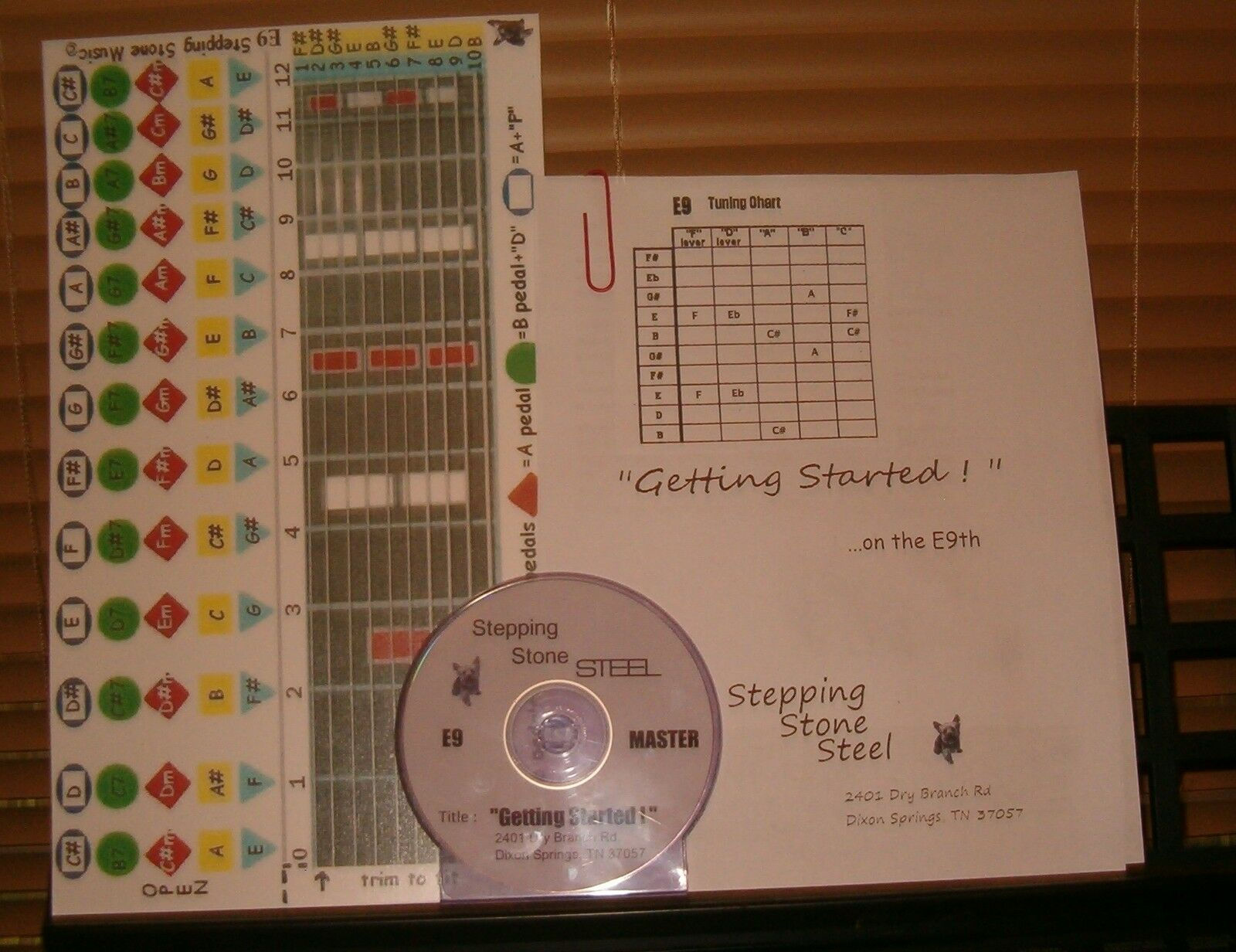 E9th Beginner Combo Course For Pedal Steel Guitar 1800 Picclick