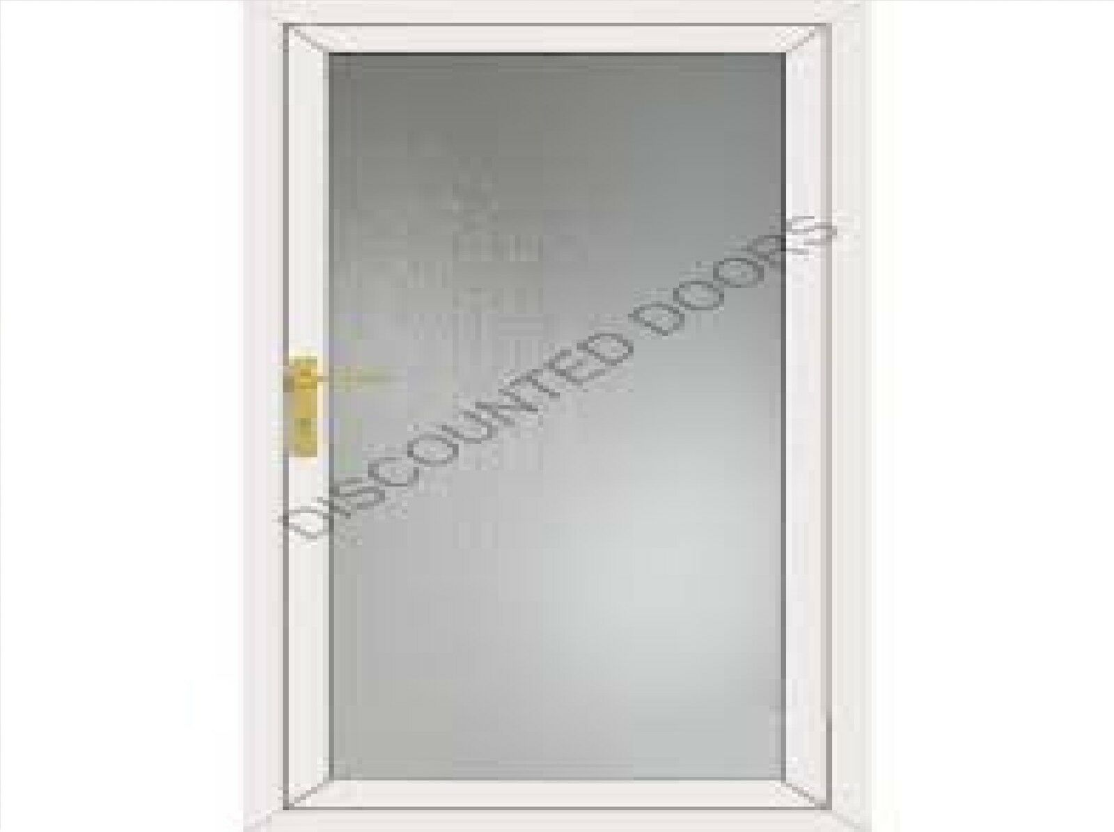 WHITE FLAT FULL Glazed Panel UPVC Back Door & Frame. - £309.00 ...