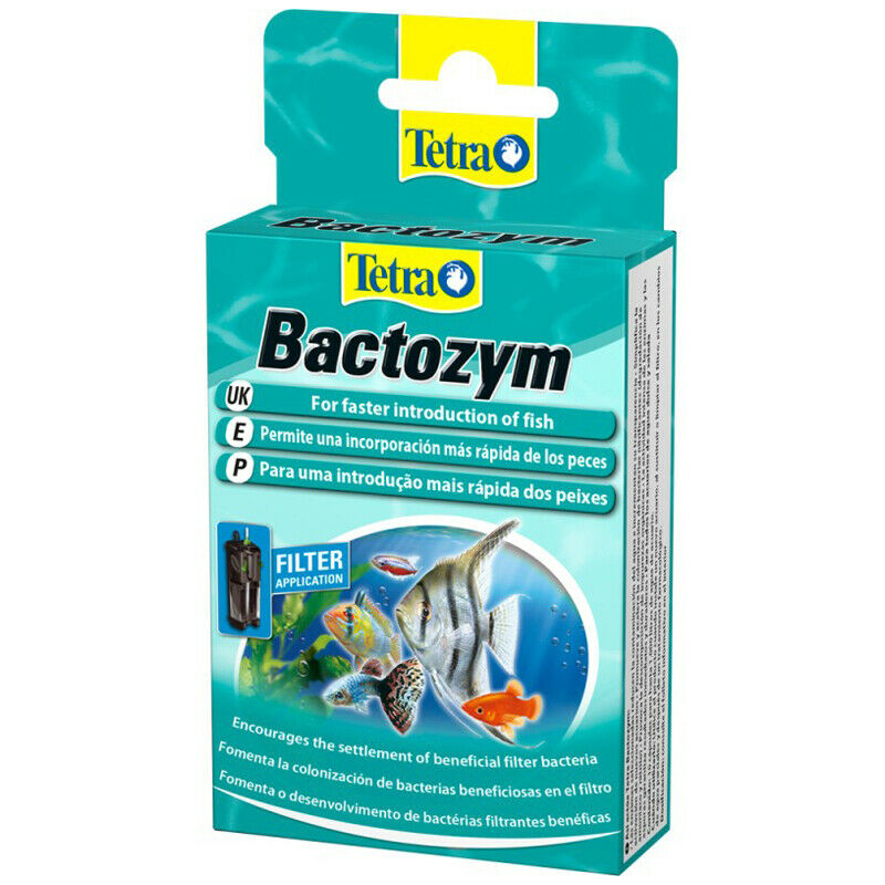 Tetra Bactozym 10 Capsules Bacteria Addiditve Treatment Filter Fresh Aquarium
