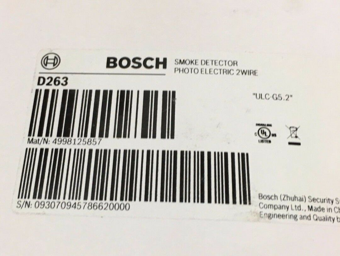 NEW BOSCH D263 - Two-Wire Photoeletric Smoke Detector - $36.00 ...