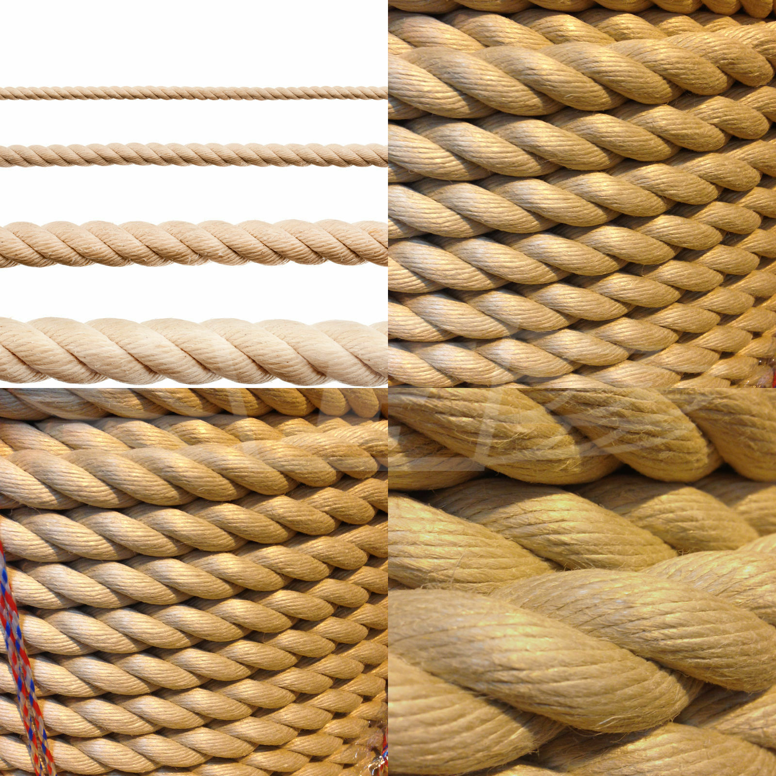 6mm GARDEN DECKING ROPE, POLYHEMP, POLY HEMP, HEMPEX, SYNTHETIC BOATING MARINE