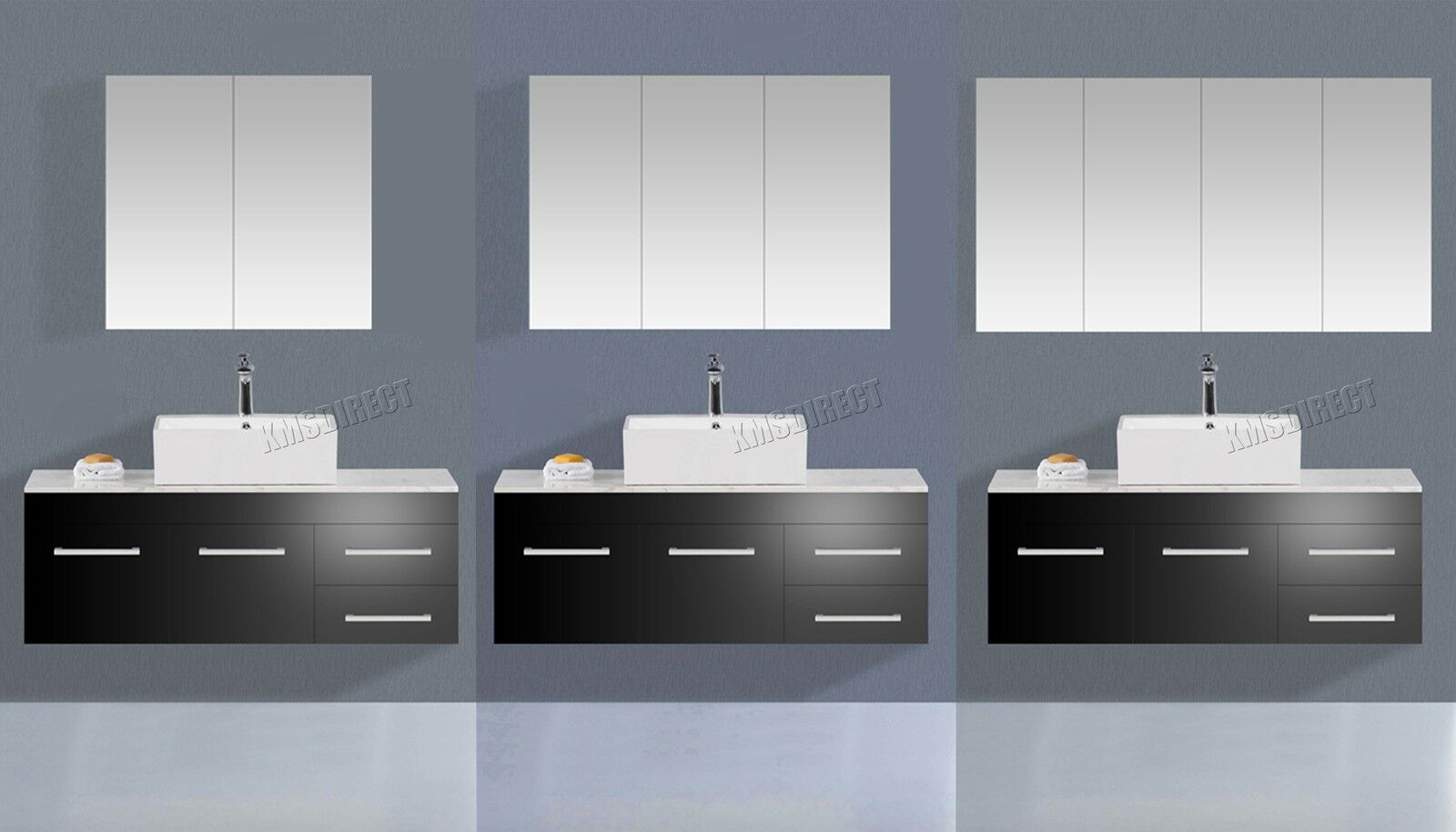 Foxhunter wall mount mirror bathroom cabinet unit storage for Bathroom cabinets ebay australia