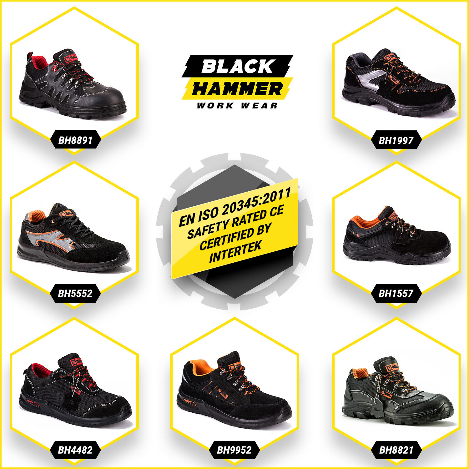 mens safety trainers shoes boots work steel toe cap. Black Bedroom Furniture Sets. Home Design Ideas