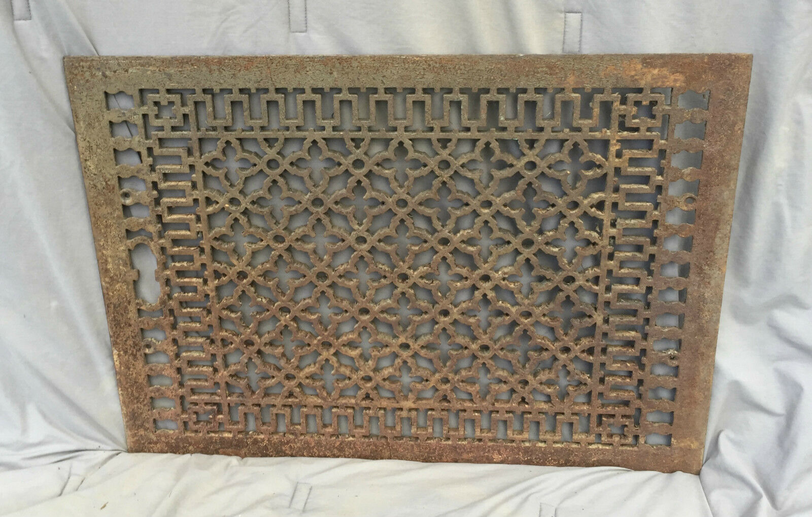 Antique Cold Air Return Heat Grate Gothic Vent Old Vintage 21x29 1078-16