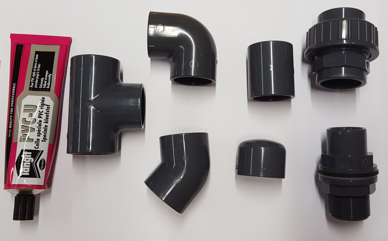 20mm PVC Pipe Solvent Weld and Fittings; Tee, Elbow, Socket, Joiner, Cap etc.