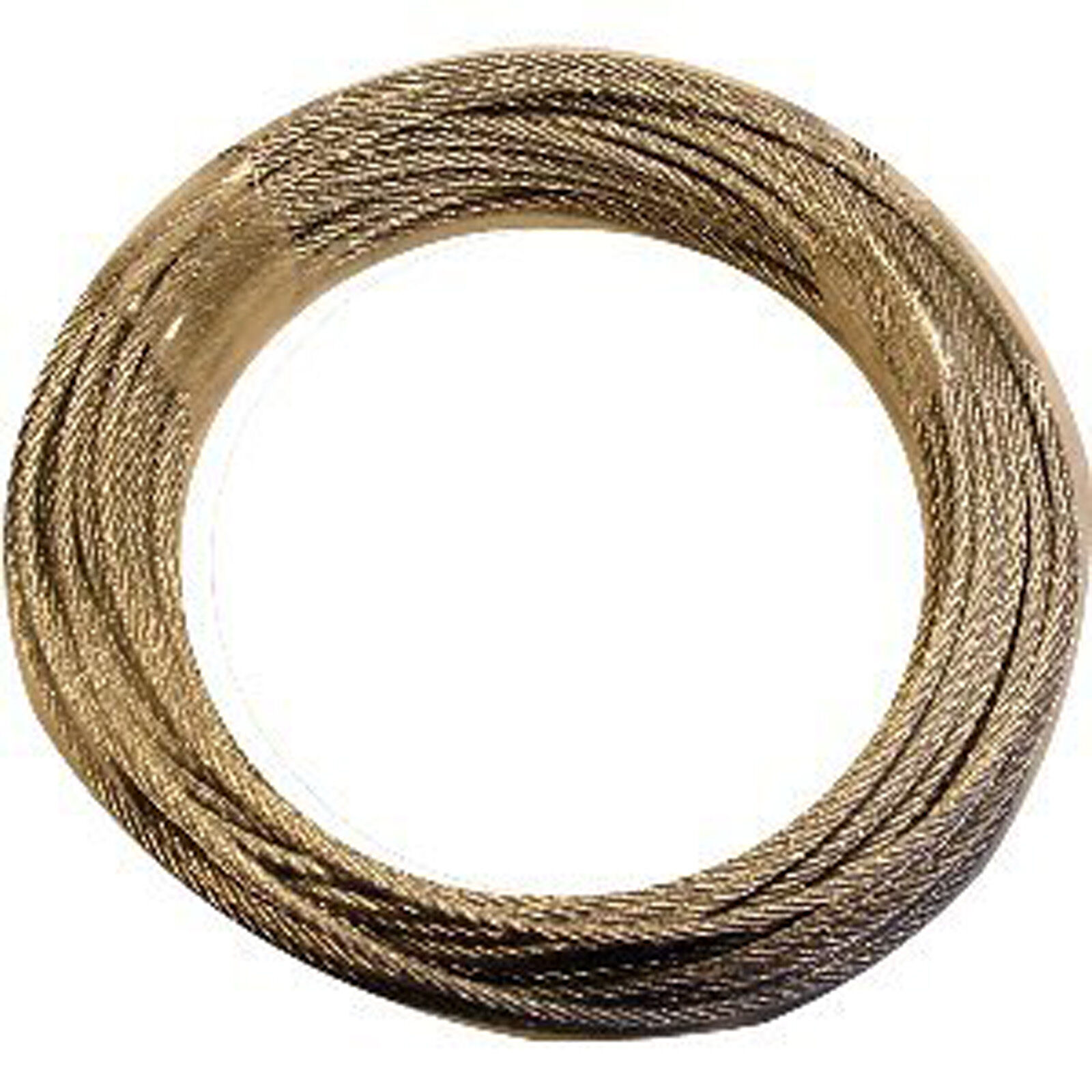 GALVANISED WIRE FOR LONGCASE CLOCK: 21ft x 1.5mm - Flexible, Strong 7x7 Strand