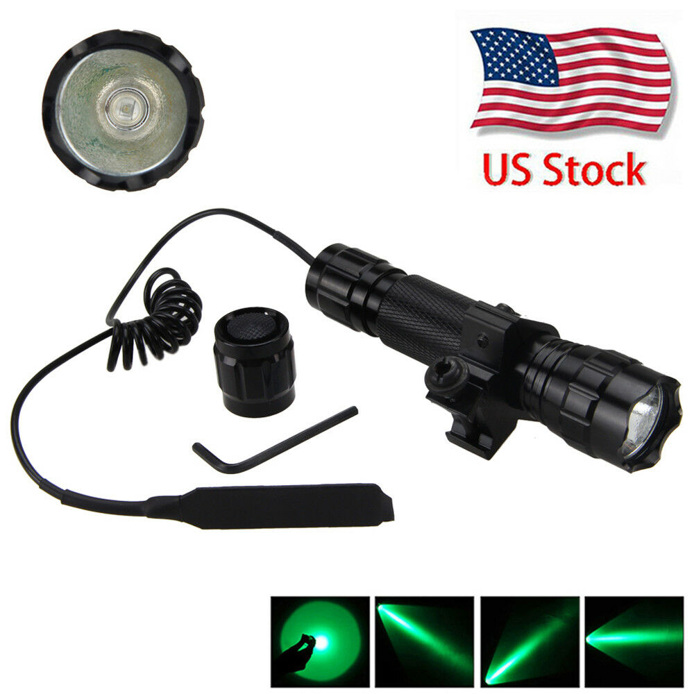 TACTICAL 5000LM GREEN Light LED Flashlight Torch Lamp ...