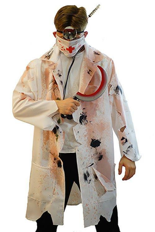 halloween zombie horror doctor scary fancy dress costume mens small 4xl