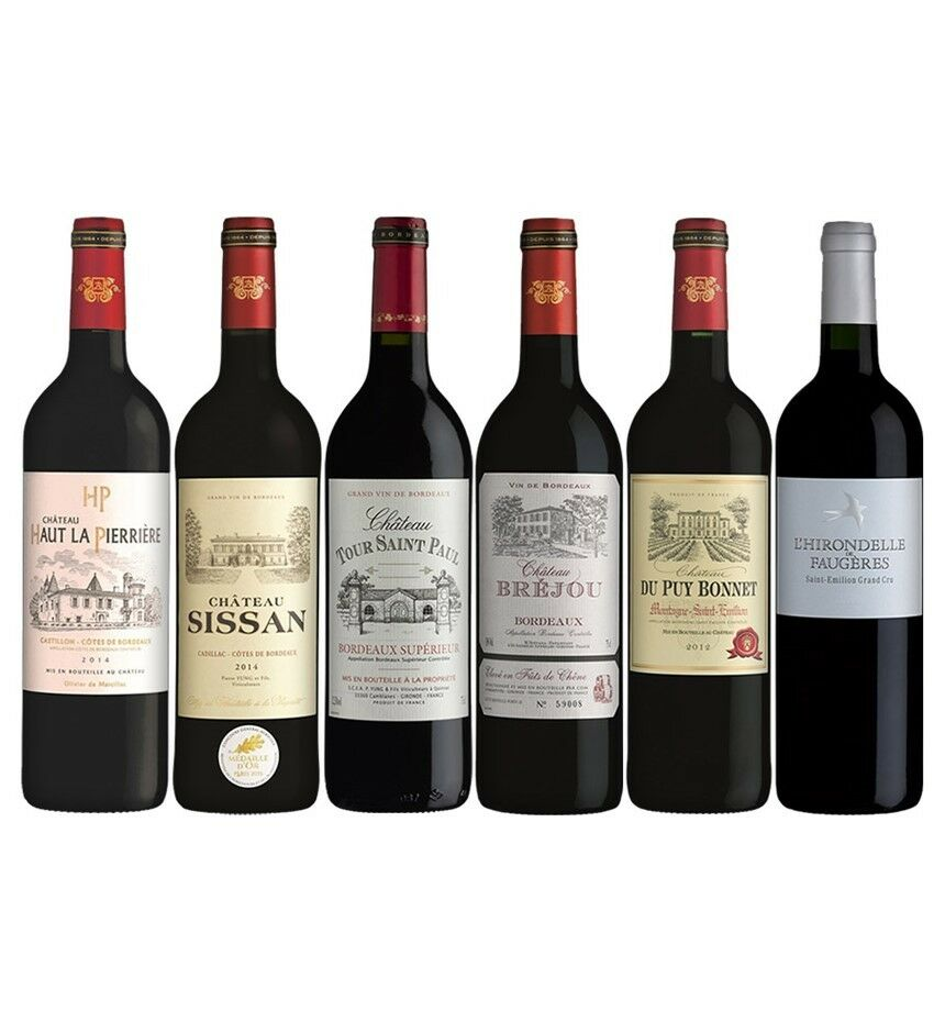 Bordeaux Lover's Mixed Pack (6 x 750mL), France.