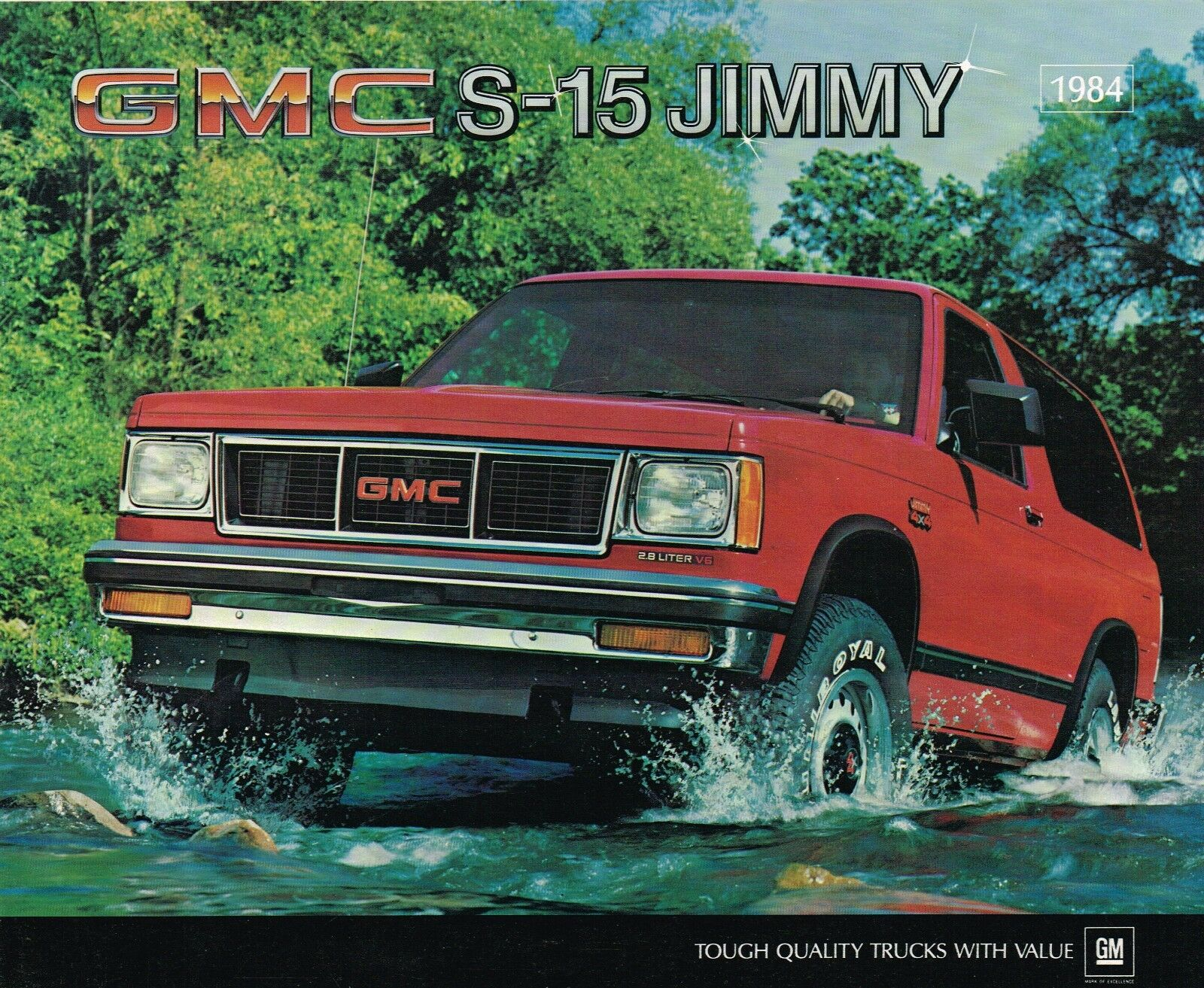 1984 GMC TRUCK JIMMY S-15 Brochure / Catalog w/ Color Chart:  S15,2WD,4WD,SIERRA, • $11 95