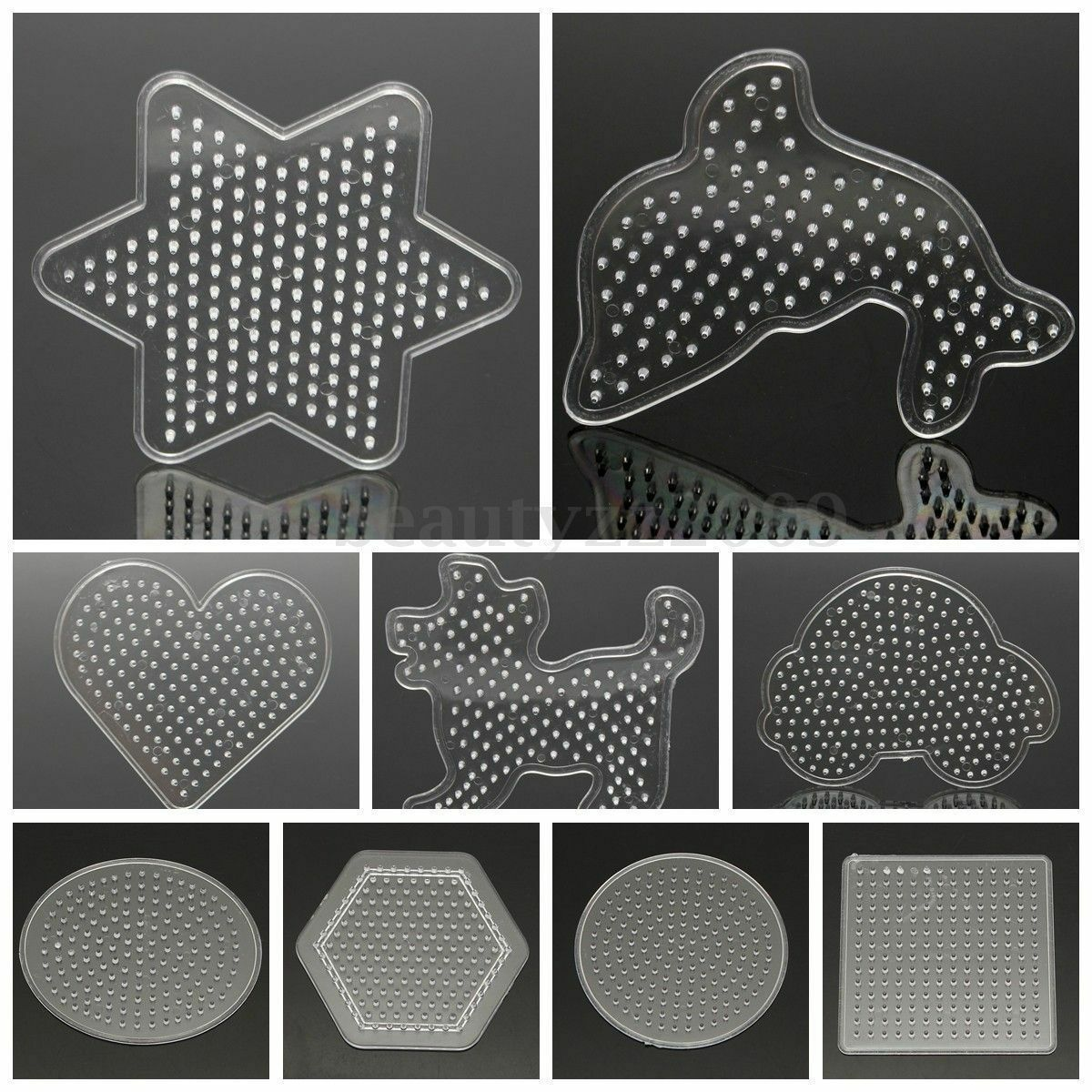Childrens Creative Toys Clear Perler Beads Pegboard Fuse Bead