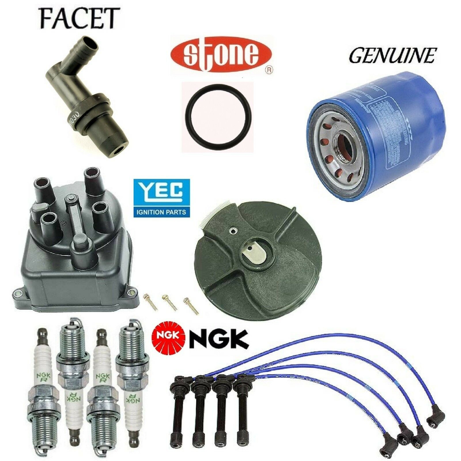 93 Honda Civic Del Sol Wiring Electrical Diagrams 1993 Harness Diagram Tune Up Kit Cap Rotor Wires Spark Plug Pcv For Convertible
