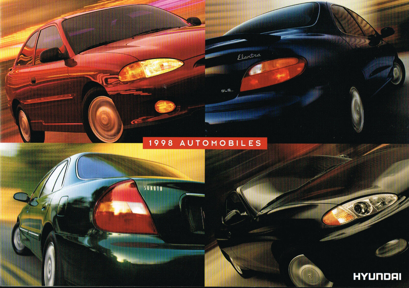 1998 HYUNDAI ACCENT / SONATA /ELANTRA/TIBURON Brochure/Catalog w/Color  Chart 1 of 6Only 1 available ...
