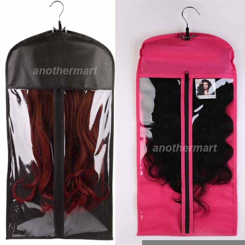 Hair Extensions Carrier Storage Suit Case Bag Package With Hanger Blackpink Am 759