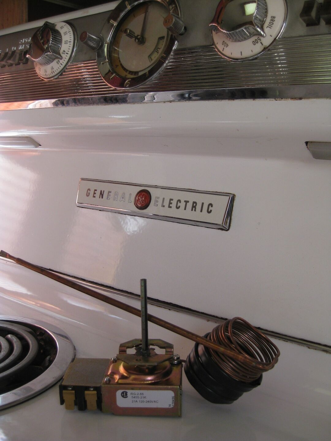 GE HOTPOINT General Electric STOVE RANGE VINTAGE OVEN THERMOSTAT ...