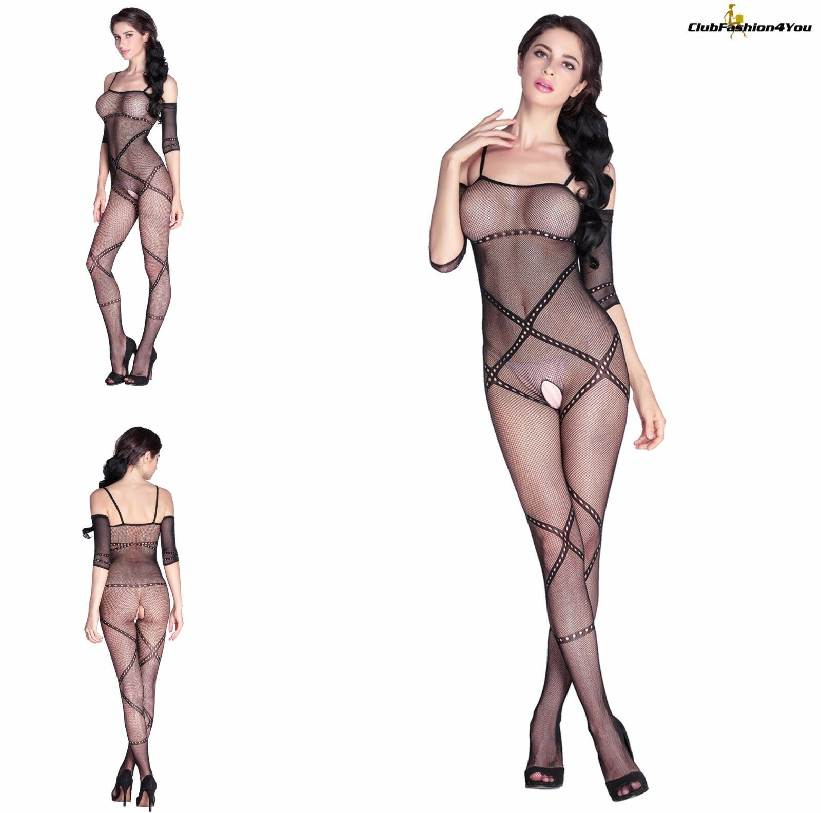 Hot Reizwäsche Fishnet Body Stocking Catsuit Netz Body Unterwäsche |H| 79795