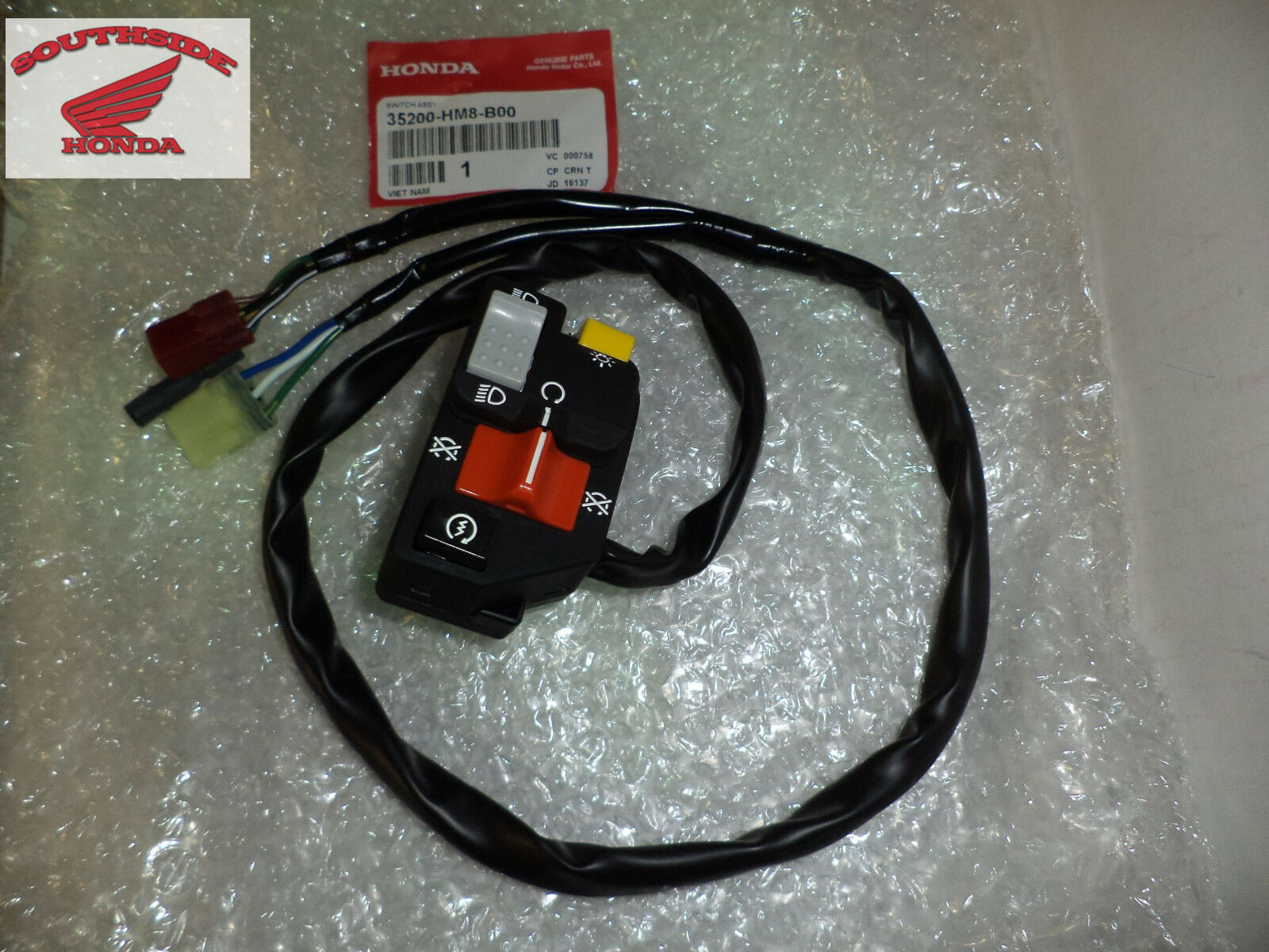 Genuine Honda Switch Assembly Lighting & Starter Stop Recon Trx250Tm 1 of  1Only 5 available ...